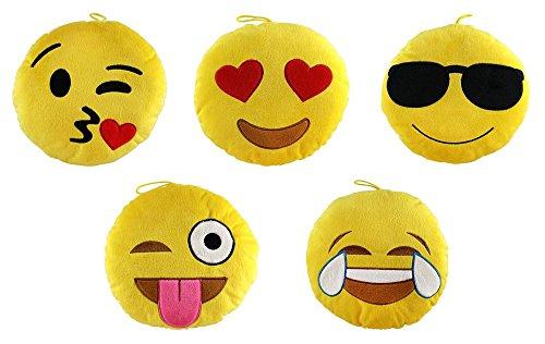 Flo`s Toys Emoji/Emoticon Plüsch Smiley 30 cm 5-Fach Sortiert