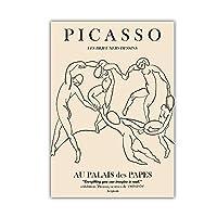 Pablo Picasso 抽象 線 ダンスの人々 絵画 リビング ルーム 装飾 壁アート プリント キャンバス ピカソ ポスター 壁掛け ホーム 回廊 壁 装飾