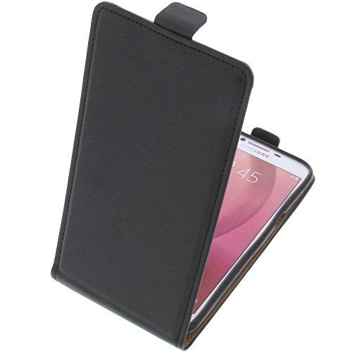 foto-kontor Custodia per Samsung Galaxy C5 PRO Modello Tascabile Stile Flip Nero