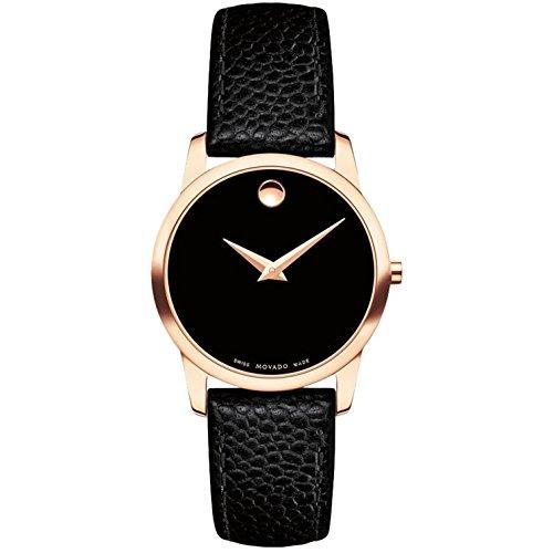 Movado Museum Classic Reloj de mujer cuarzo suizo 28mm correa de cuero 0607061