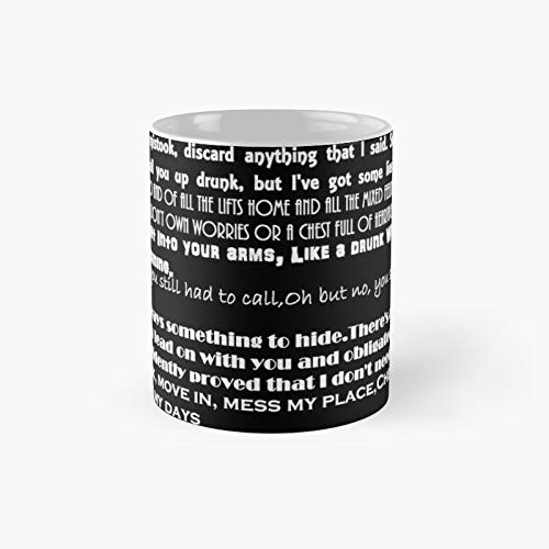 Catfishampthe Bottlemen Lyrics Classic Mug Best Gift Funny Coffee Mugs 11 Oz