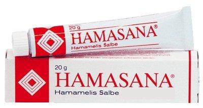 Hamasana Hamamelis Salbe Spar-Set 5x20ml; schützt die Haut vor altersbedingter Austrocknung und Sonnenschäden, pflegt bei Hautschrunden und Wundsein; frei von Konservierungsmitteln