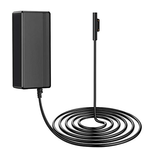 TNP Surface Pro 3/4 Charger US Plug Power Suppy AC Adapter Home Wall Travel Charging Cable Cord Without USB Port for Microsoft Surface Pro 3 and Surface Pro 4 Windows Tablet (Black)