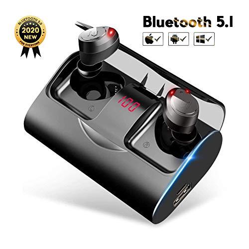 Bluetooth Kopfhörer in Ear, YATWIN Kabellos Bluetooth 5.1 Headset mit 3000mAh Ladebox Kopfhörer Kabellos 150 Stunden Spielzeit Sport Wasserdicht IPX7 Ohrhörer mit Mikrofon für iOS, Android