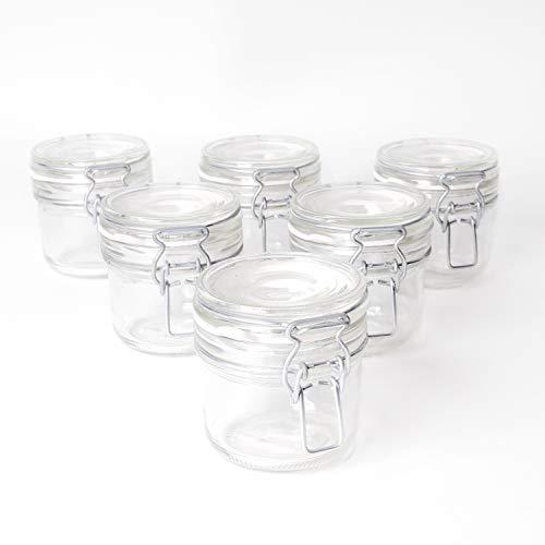 SHD Gläser mit Bügelverschluss Vorratsbehälter, Luftdichte Konservierung, Einweckgläser in Top Qualität (6, 200ml)