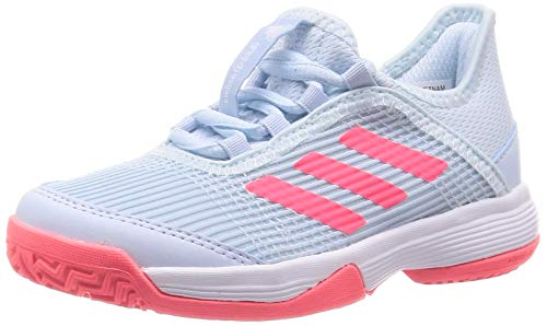 Adidas Unisex Adizero Club k SKYTIN/SIGPNK/FTWWHT 10K UK(FV4133)