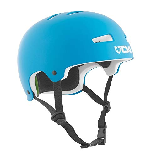 Find Discount TSG Evolution Skate & Bike Helmet in Satin Dark Cyan w/Snug Fit & Triple Cert. for Ska...