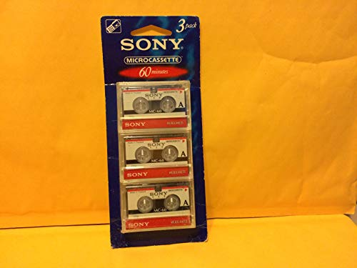 Sony 3MC-60B Microcassette - 3 Pack