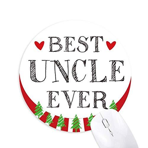 Bester Onkel je Zitat Herz rund Gummi Maus Pad Weihnachtsdekoration