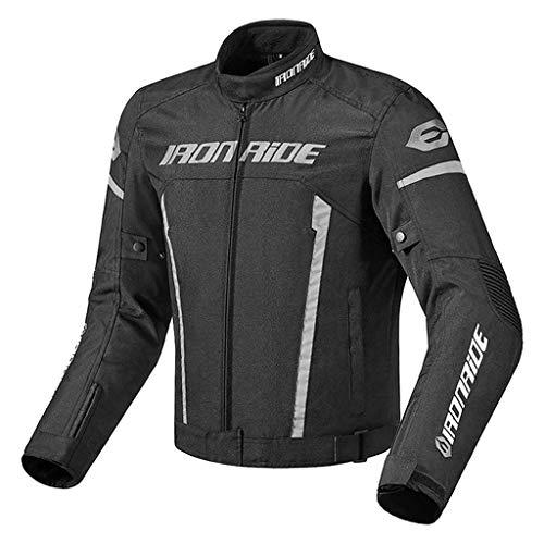 Amuzocity Men's Motorcycle Jacket, Cargo Jacket, Motorcycle Clothing, Raincoat - XL