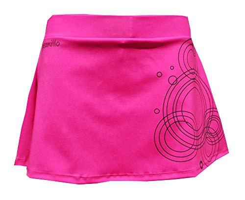 El Gusanillo - Falda de pádel o Tenis para ser el Centro de Todas Las miradas - Modelo Unaza Fucsia