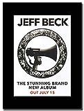 Gasolinerainbows - Jeff Beck - Loud Hailer out July 15 - Revista montada Obra de Arte Promocional en una Montura Negra - Matted Mounted Magazine Promotional Artwork on a Black Mount