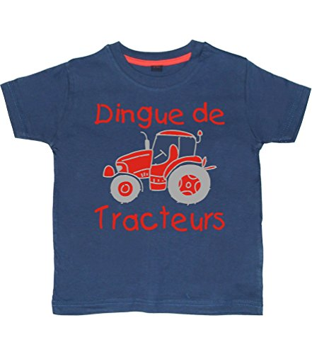 Edward Sinclair DINGUE DE TRACTEURS' Design 2 98-104 Marine T-Shirt Enfant