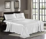 Satin Sheets Twin [3-Piece, Grey] Hotel Luxury Silky Bed Sheets - Extra Soft 1800 Microfiber Sheet Set, Wrinkle, Fade, Stain Resistant - Deep Pocket Fitted Sheet, Flat Sheet, Pillow Cases