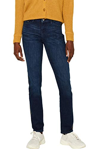 edc by ESPRIT Damen 099Cc1B033 Skinny Jeans, Blau (Blue Dark Wash 901), W30/L32 (Herstellergröße: 30/32)