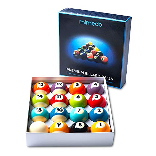 Pool Table Balls Billiard Ball Regulation Size and Weight, 16 Ball Set, Pure Phenolic Resin, Perfect Roundness, and Consistent Weight, Bright Colors That Last, Ideal for All Level Players