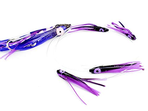 "Lobo Lures #275 Tuna Candy 4.5"" Stinger Trolling Lure Daisy Chain Killer on Tuna and Mahi (Purple Mackerel)"
