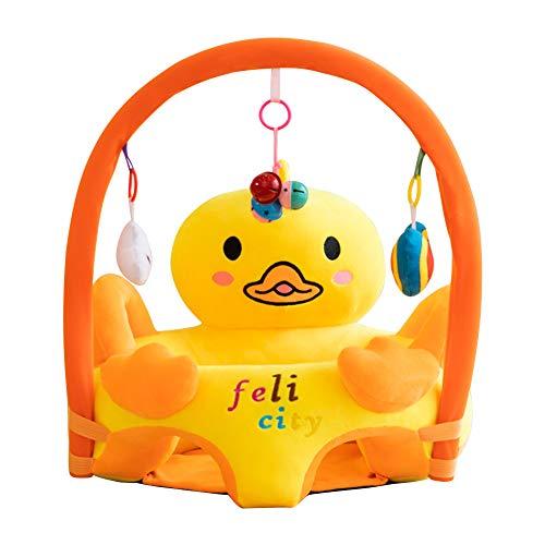 Funda de asiento de bebé para sofá de bebé, funda de asiento para aprender a sentarse silla de felpa sin relleno (pata)