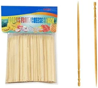 Blueline 400 Pcs Bamboo Skewers Wood Sticks for BBQ Fondue Fruit Cheese Toothpicks 4 inch