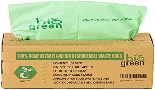 CYCLUCK 120 St/ück 10L 100/% Kompostierbare M/üllbeutel 6L 10L 30L Biologisch Abbaubare T/üten Hergestellt aus Maisst/ärke f/ür den K/üchenm/ülleimer DIN EN 13432 10L