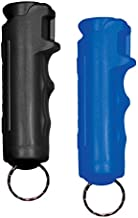 SABRE RED Black Pepper Gel & Blue Practice Gel Kit – Maximum Strength OC Gel Spray, 12-feet (4M) Range with 25 Bursts, Finger Grip for Accurate Aim – Pepper Gel is Safer and Only Affects Target