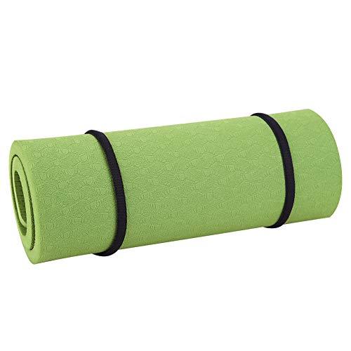 bxtbest-seller Yogamatte mit Tragegurt, Extra-Dicke Naturkautschuk rutschfest Yoga Matte Fitnessmatte Trainingsmatte 380 * 210 * 8 mm (Dunkelviolett)