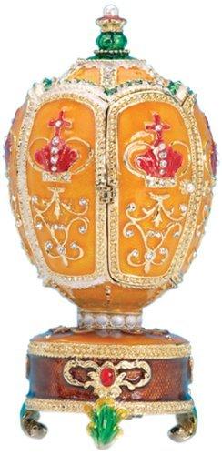 Musicbox World - Caja de música, diseño de Huevo de Fabergé con melodía de El Lago de los cisnes