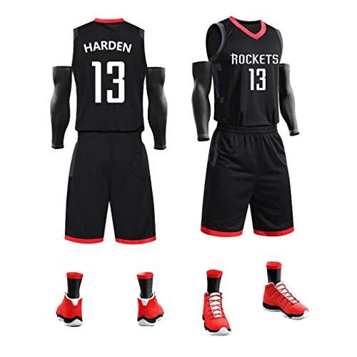 WNGJ Harden # 13, Maglia da Basket, Tuta Sportiva con Scollo a V Uniforme da Basket ad Asciugatura Rapida e Senza Maniche, Maglie da Basket Larghe Senza Maniche A-2XL