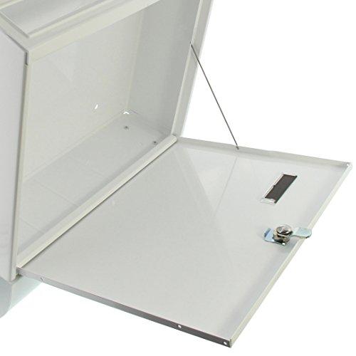 BURG-WÄCHTER, Briefkasten-Set mit Zeitungsbox A4 Einwurf-Format, Verzinkter Stahl, Set Vario W, Weiß - 4