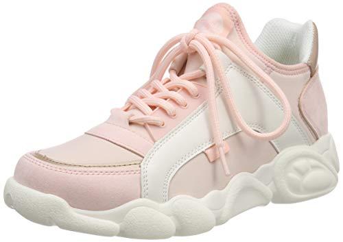 Buffalo Damen CALI Sneaker, Mehrfarbig (Pink/White 000), 41 EU