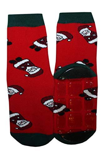 Weri Spezials ABS-sokken voor kinderen, grappig In rood.