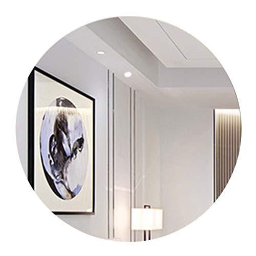 Dormitorio Sin Marco Espejo Redondo Decorativo Montado En La Pared Sala De Estar Pasillo Espejo De Maquillaje Espejo Colgante De Pared para El Hogar(50cm-80cm)