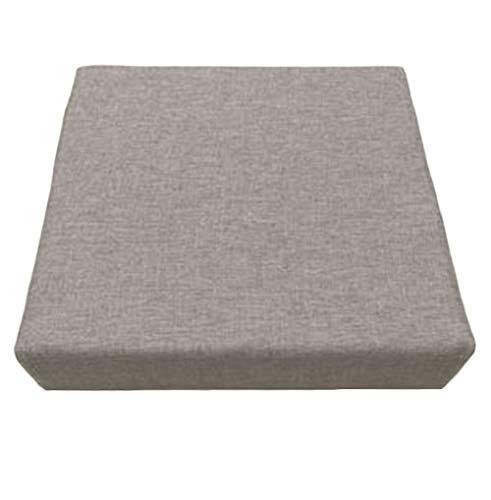 Cojín cuadrado para silla de asiento, cojín para interior y exterior, cojín de comedor, grueso para el hogar, oficina (gris claro, 40 x 40 x 5 cm)