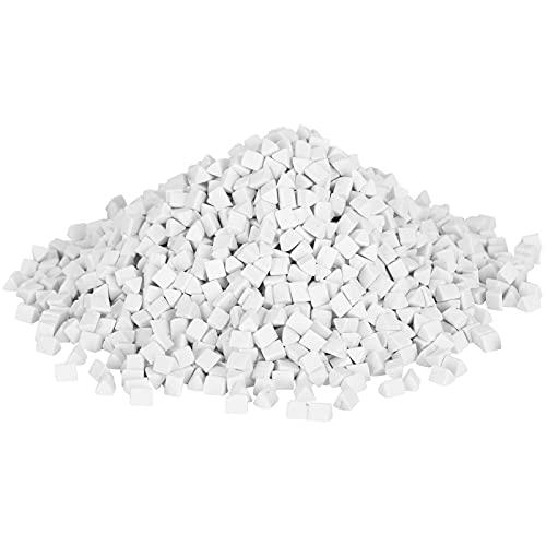 Dilwe Keramik-Dreieck-Schleifmittel, Schleifmittel für Vibrationspolierschleifmaschinen, 1 Packung Keramik-Dreieck-Schleifmittel (500 g) zum Schleifen und Polieren von Bowlder