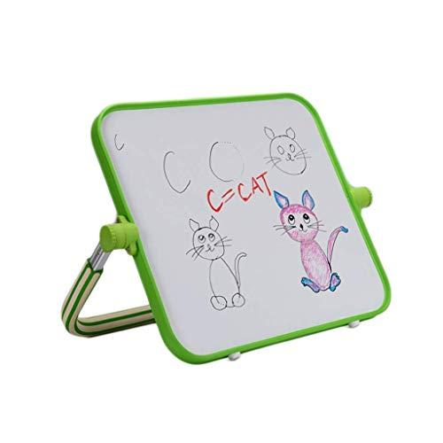 Puzzelgift Magnetisch tekentafel Draagbaar beugel Type Schrijfbord Whiteboard Babykinderen Stofvrij Graffitibord 45 * 40cm (Kleur: Groen, Grootte: 45 * 40CM)