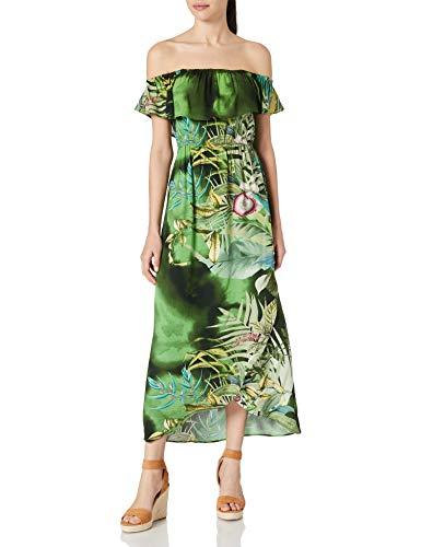Desigual Vest_Tucson Vestido Casual, Verde, XL para Mujer