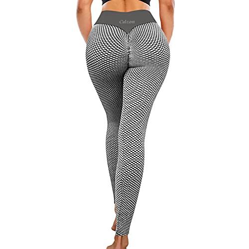 Calzon Tiktok Leggings, Body Slimming Tights for Fitness Studio, Tummy Control Underwear for Athlete Grey