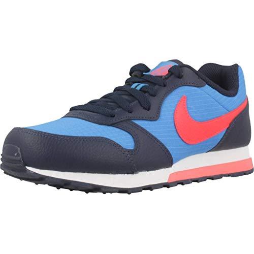 Nike MD Runner 2 (GS), Zapatillas de Atletismo Hombre, Multicolor (Photo Blue/Bright Crimson/Obsidian/White 412), 40 EU