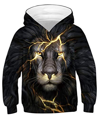 TUONROAD Jungen Kinder Hoodie 3D Gedruckt Kapuzenpullover Sweatshirt 8-12 Jahre