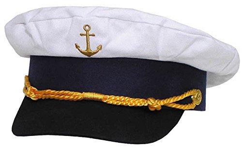 MFH Cap Marine, Ancre Gold brodé - Bleu, 54