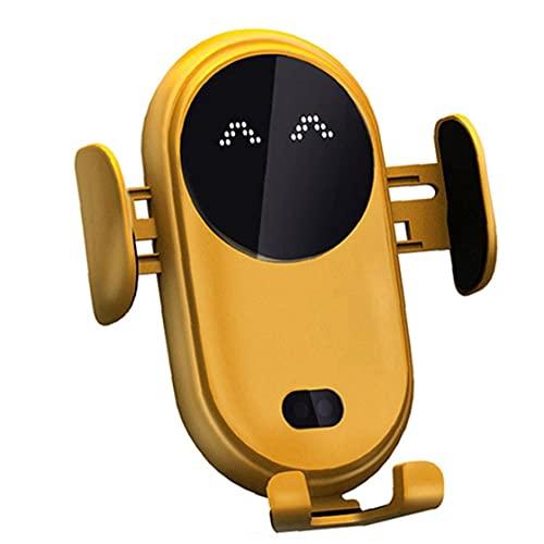 Sensor de infrarrojos sin hilos del coche Cargador Móvil de carga rápida con el sostenedor del soporte antideslizante automática telescópica CLIP, electrónica de teléfono del cargador del coche