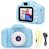IEBRT Kids Digital Camera, 1080P 2 Inch FHD Digital Video Recorder Shockproof Sports Camera 3-12 Years Old Boy and Girl Birthday Toy Gifts.