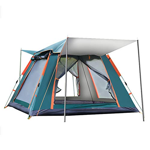 LFANH Automatic Pop Up Camping Tent, 2-3 Persons Lightweight Tent, Portable Pop Up Gazebo Waterproof, UV Protection, for Beach, Outdoor, Traveling, Hiking, Camping, Hunting,Green