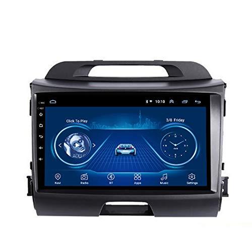 YLCCC Coche Estéreo Sat Nave EDITOS para KIA SPORTAGE R 2010-2016 Coche Estéreo Vehículo GPS Capacitivo Touch HD Carplay WiFi Radio Incorporado Tracker,4Core 4G+WiFi:2+32G