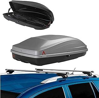 Generico Barre Portapacchi PORTATUTTO Auto Compatibile con BMW Serie 3 E46 3 Touring 2000 120 CM Serratura ANTIFURTO UNIVERSALI MENABO Rails Alti MANCORRENTI RIALZATI dal Tetto