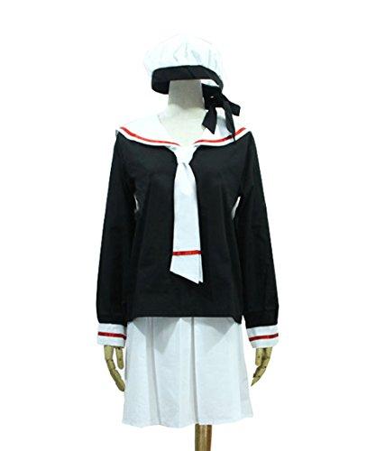 『【Guirui】カードキャプターさくらコスプレ衣装 さくら セーラー服 制服 ロウイン変装 日常着 仮装 cosplay M』の1枚目の画像