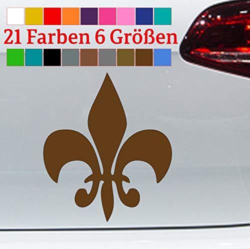 Aufkleber Lilie heraldisch Blume Symbol Fleur De Lis New Louisiana Orleans Saint in 6 Größen & 21 Farben
