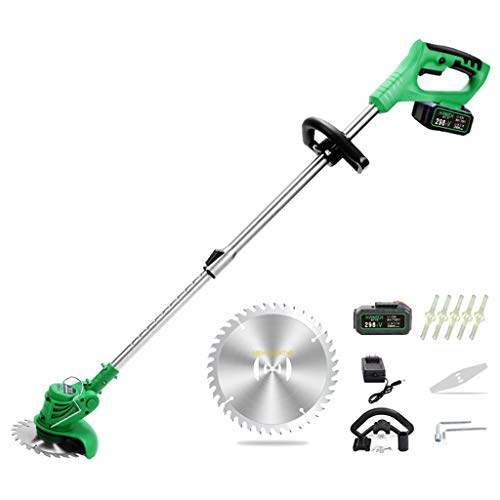Buy Zzmop Cordless Grass Trimmer with Battery, Charger & 1 x Stainless Steel Hacksaw – 180° Adjus...