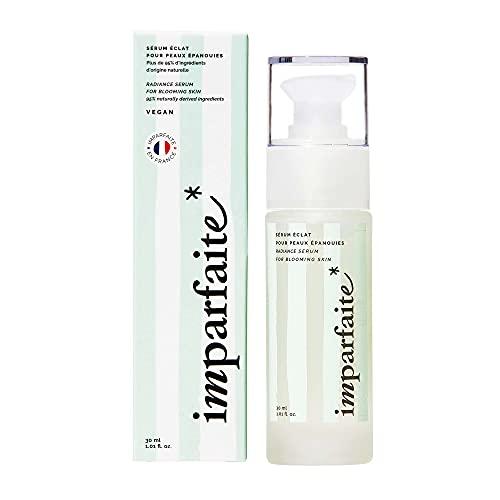 Imparfaite - Sérum Visage Acide Hyaluronique + Vitamine C - Unifie le Teint et Révèle l'Éclat - 95% d'Ingrédients d'Origine Naturelle - Vegan - Fabriqué en France - 30ml