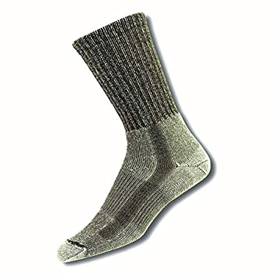 Thorlos Unisex LTH Light Hiking Thick Padded Crew Sock, Sage, Medium
